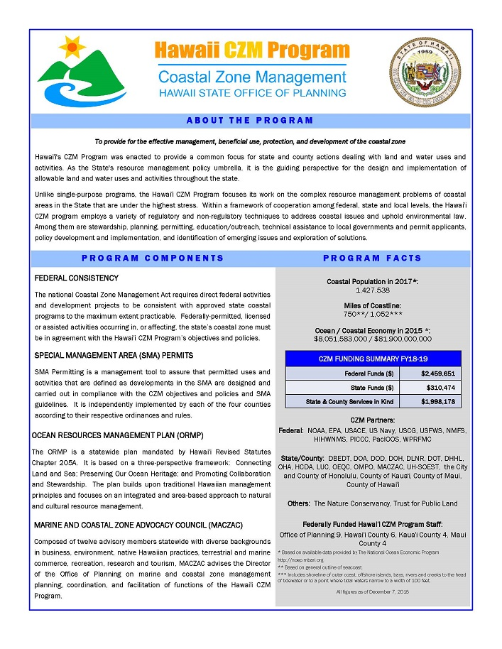 CZM Program flyer cover