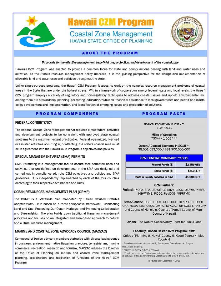 CZM Program flyer cover