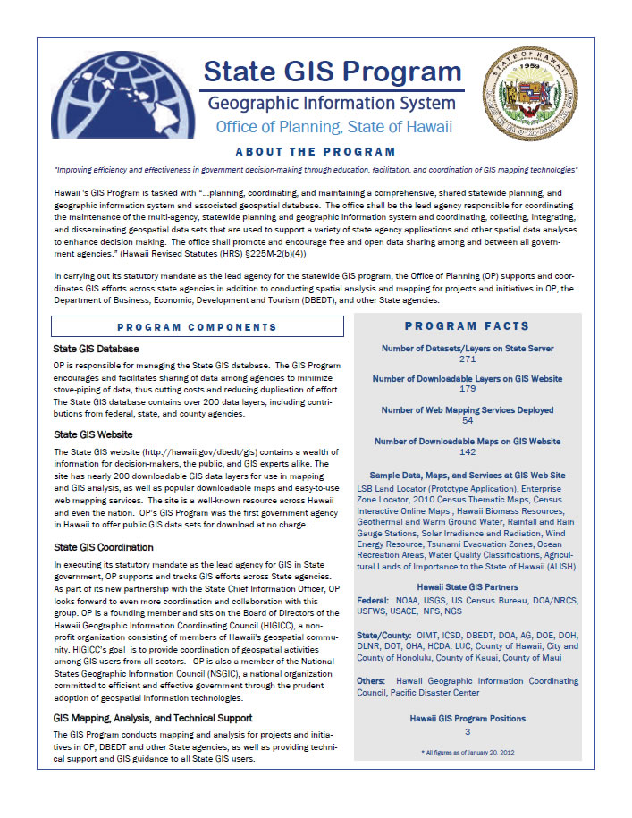 GIS Program flyer cover
