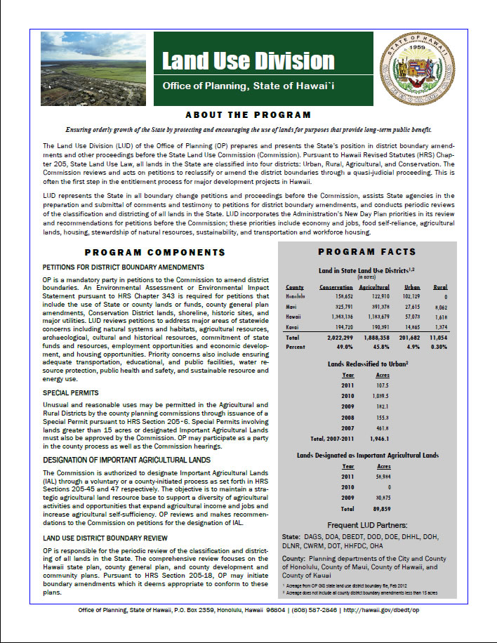 Land Use Division flyer cover