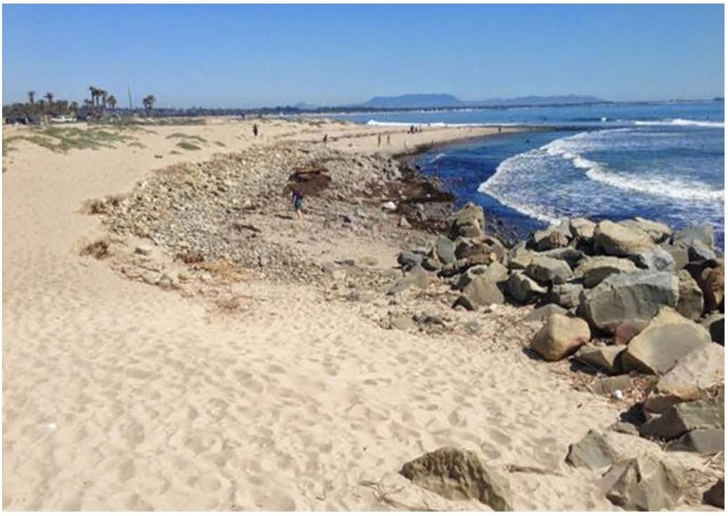 After Phase 1 of Ventura, CA Managed Retreat Project at Surfers' Point (Credit: Paul Jenkin, 2015)
