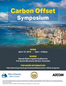 Carbon Offset Symposium Flyer