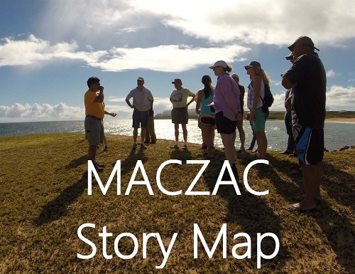 MACZAC members visit Moomomi, Molokai.